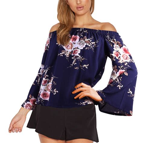 Blouseoutfit Galery Top au fashion summer casual shoulder shirt tops blouse top ebay