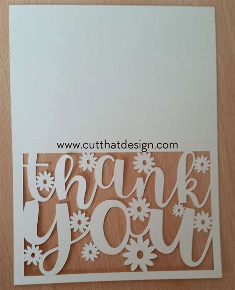 Thank You Card Svg create a thank you card in silhouette studio free svg