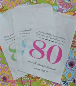 Favors For 80th Birthday by 80th Birthday Favor Bags Birthday Favors