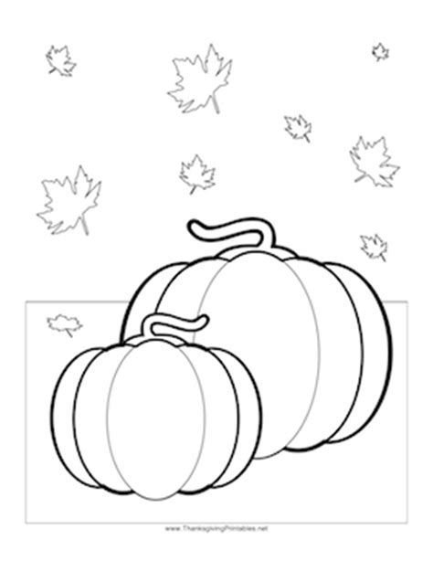 thanksgiving pumpkin leaves coloring page