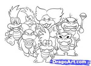 Koopalings Coloring Pages Sketch Page sketch template