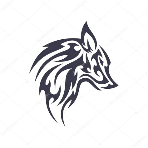 tatuaje lobo animal vector logo para negocio moderno 250 nico