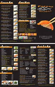 To Go Menu Template by Japanese Restaurant To Go Menu Design And Printing Www