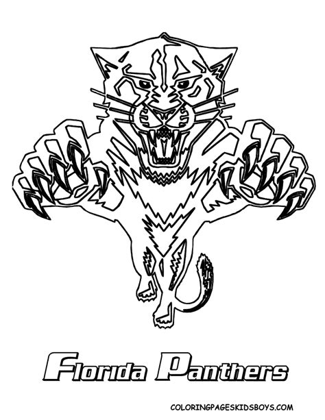 panthers logo coloring pages
