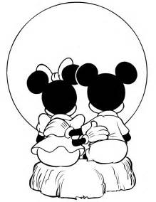 mickey amd minnie coloring pages mickey minnie mouse watching sunset coloring free
