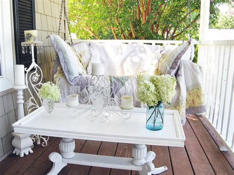 16 shabby chic garden designs with interior furniture