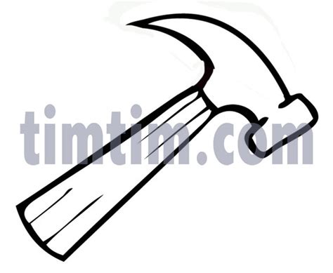simple drawing tool free drawing of a hammer bw from the category building
