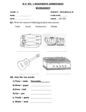 Kv Worksheets For Class 5 English - Advance Worksheet