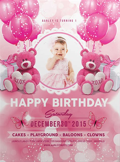 birthday card template psd 31 birthday invitation templates psd vector eps