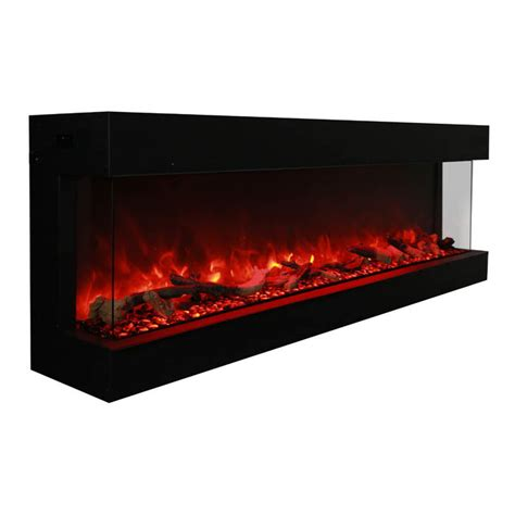 indoor outdoor electric fireplace amantii 72 72 tru view xl 3 sided indoor or outdoor