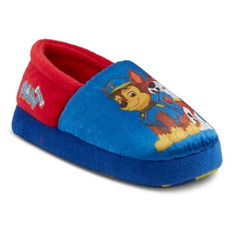 paw patrol slippers paw patrol toddler boy s slippers blue ebay
