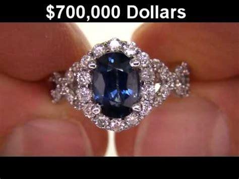 Royal Blue Safir Sapphire genuine vvs royal blue sapphire engagement ring