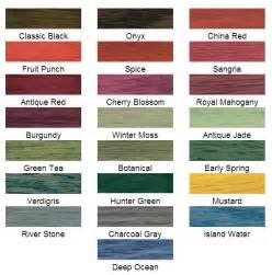 minwax stain color chart wood stains and stain colors ridge millwork