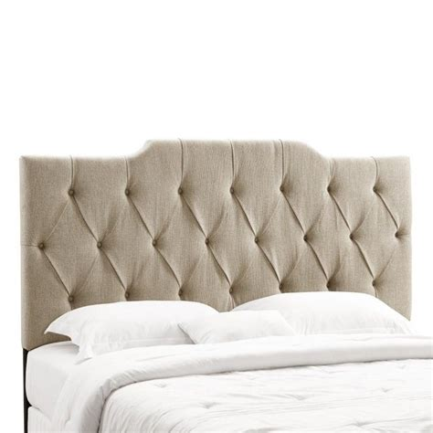 tan tufted headboard pri fabric tufted panel king california king headboard in