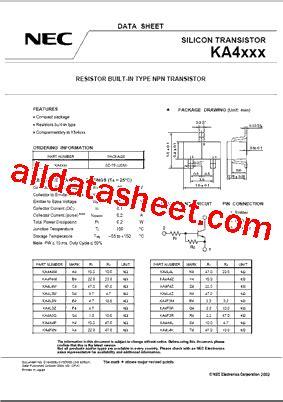 Transistor M1661s ka4f3m datasheet pdf nec