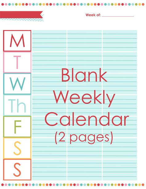 Blank Activity Calendar Template by Blank Activity Calendar Template