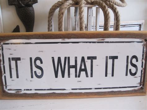 Signs And Plaques Home Decor Quot It Is What It Is Quot Sign Custom Wooden Sign Decor Coastal Home Ebay