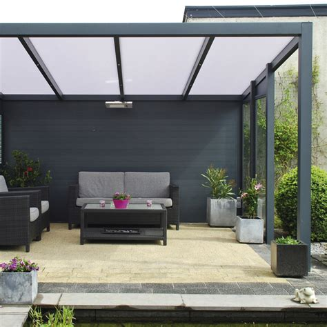 pergola aluminium 224 toit rigide fixe pour terrasse