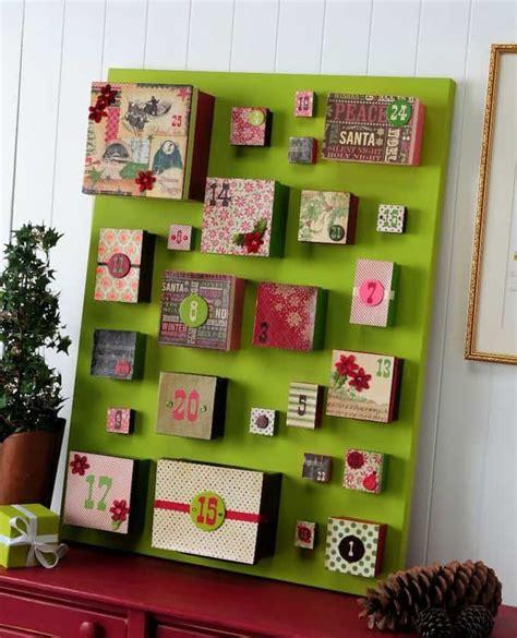 how to make an advent calendar box big box diy advent calendar on canvas mod podge rocks
