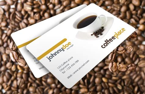 free coffee bussiness card template 25 fascinating psd business card templates