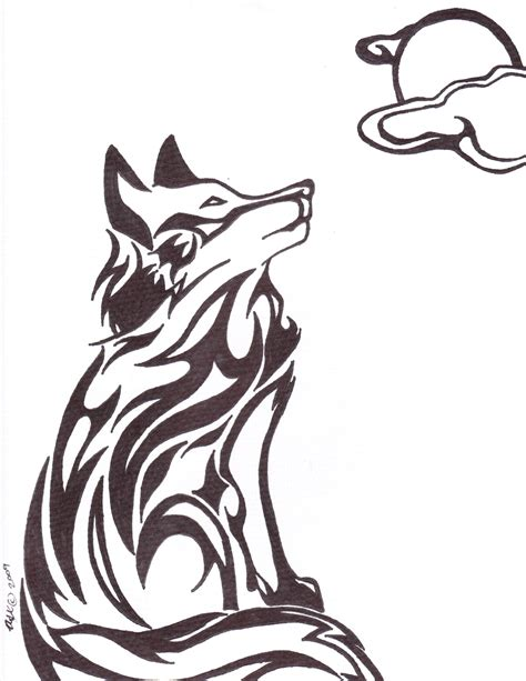 tribal wolf tattoos art the gallery for gt tribal drawings of wolves