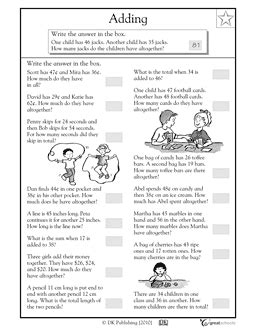2nd Grade Word Problems Worksheets by Money Math Addition Word Problems Worksheets