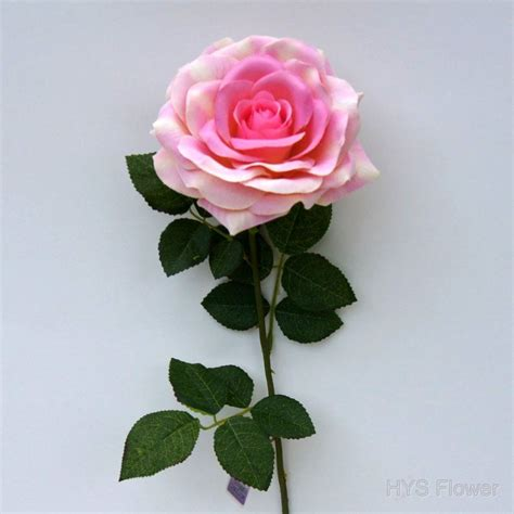 5pcs Fresh Pink Tea High Artificial Flower Home Real Image Impremedia Net