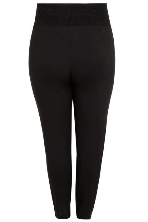 bump it up maternity black harem trousers with comfort