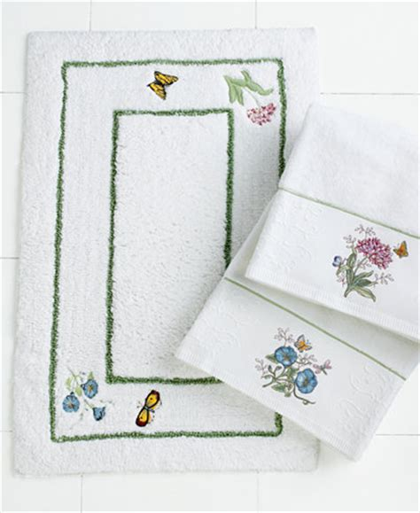 Butterfly Bathroom Rug Lenox Bath Accessories Butterfly Meadow Bath Rug Bathroom Accessories Bed Bath Macy S