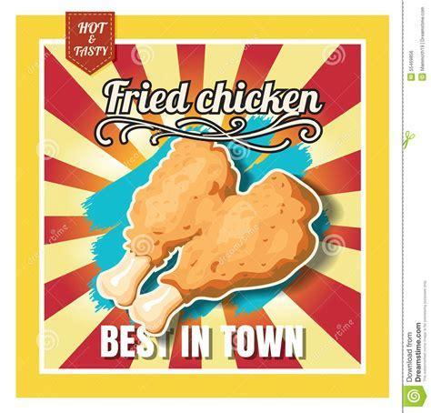 Restaurant Fast Foods Menu Fried Chicken On Beautiful