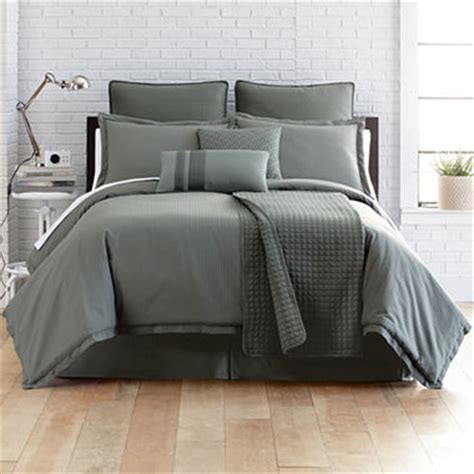 jcpenney bedding clearance studio micro grid 5 pc comforter set accessories