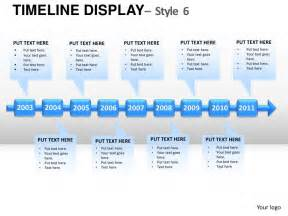 Timeline Templates For Powerpoint by Roadmap Timeline Display Style 6 Powerpoint Presentation