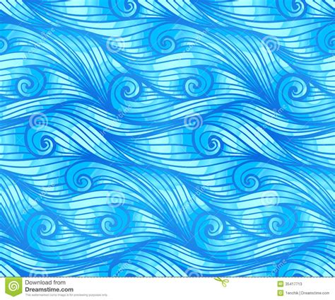 water pattern svg blue curly waves vector seamless pattern stock photos