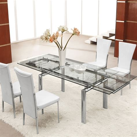 glass dining table expandable glass dining table home design ideas