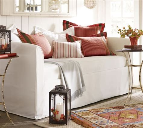 daybed mattress slipcover lewis daybed mattress slipcover twill cream pottery barn