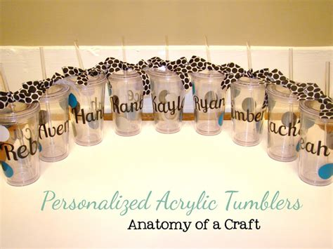Decorate Tumbler Cups by Anatomy Of A Craft Tuesday Tutorial 6 Personalized Acrylic Tumblers