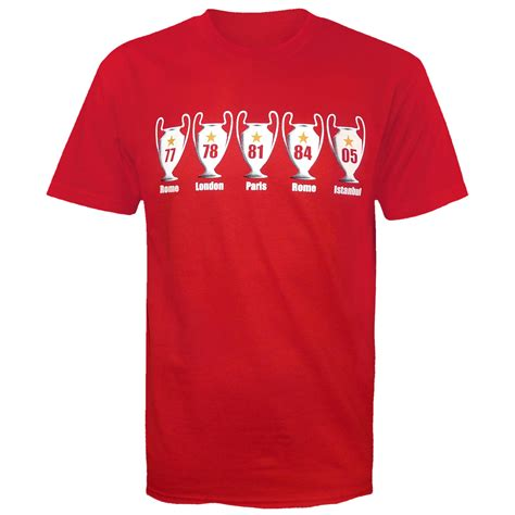 T Shirt Liverpool Big liverpool football gift 5 times european cup mens t shirt ebay