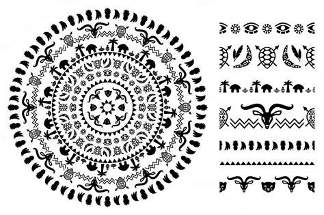 african pattern brush african tribal ornaments brushes patterns on creative