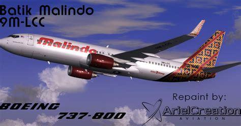 batik air od 9115 pmdg 737 800ngx malindo batik air 9m lcc livery fsx