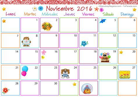 Calendario Noviembre 2016 Calendario Multicolor Noviembre 2016 Calendario