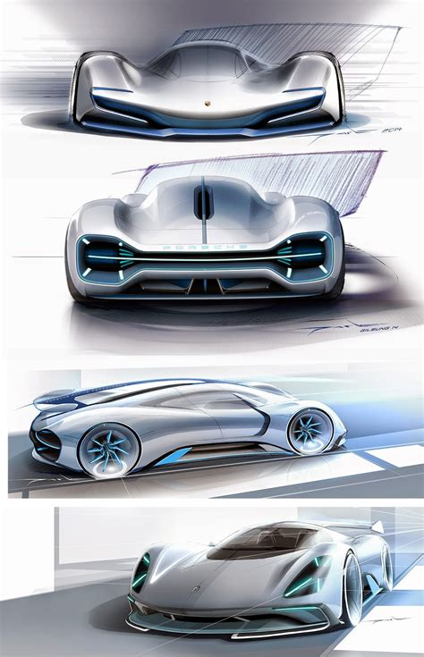 porsche concept sketch porsche electric le mans 2035 concept design sketches by
