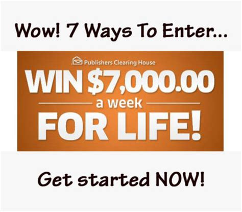 Pch 5000 A Week For Life Entry - 7 ways to enter to win 7 000 a week for life pch blog