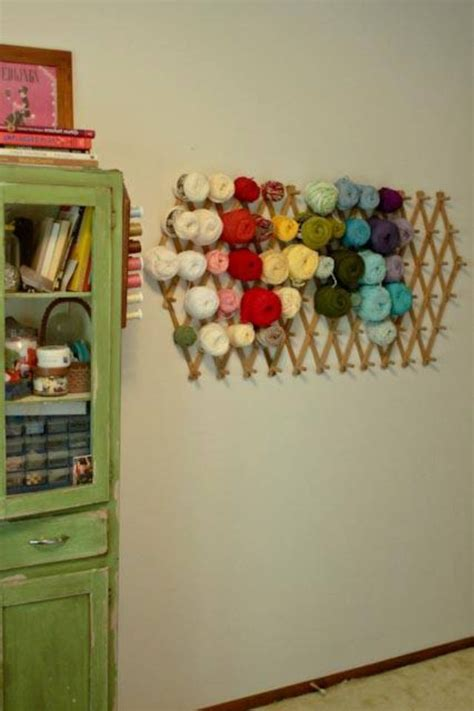 Yarn Shelf by Yarn Storage Idea Creating With Crochet