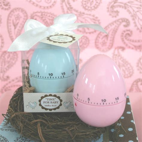Baby Shower Guest Favors by Quot Time For Baby Quot Egg Timer