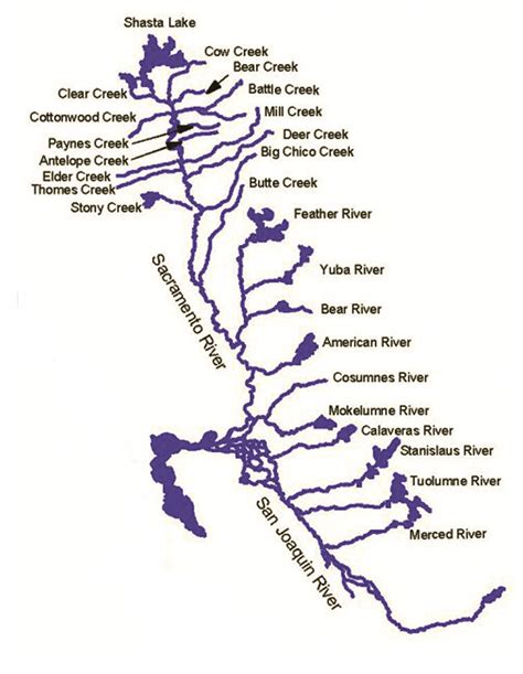california map of rivers text