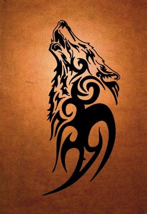tribal loup black tattoo design 2017 tattoo designs 2018