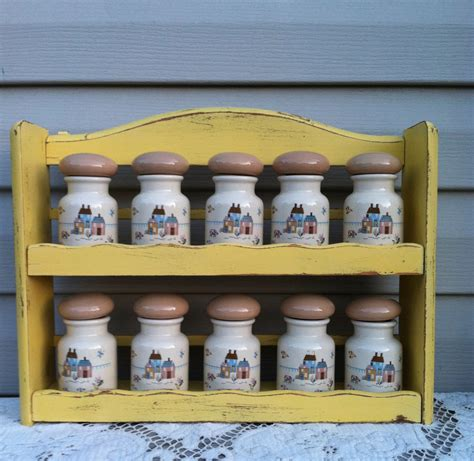 Country Spice Rack vintage country kitchen spice rack w 10 spice by refeatheryournest