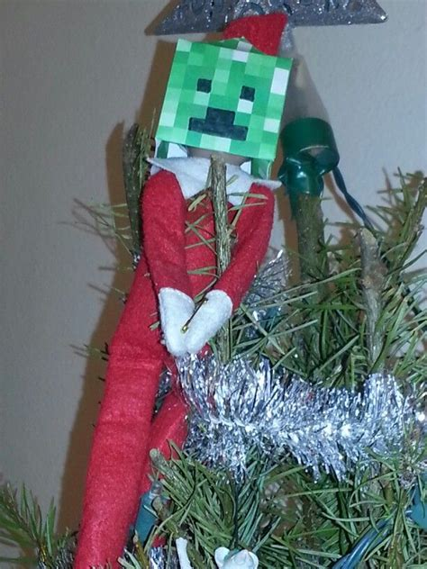 elf on the shelf minecraft santa printable minecraft creeper elf free papercraft printables online
