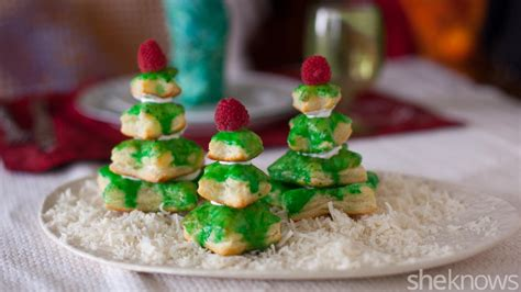puff pastry christmas trees are the cutest edible