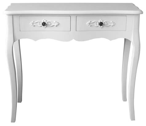 Modern White Console Table With Drawers by Krista 2 Drawer White Console Table
